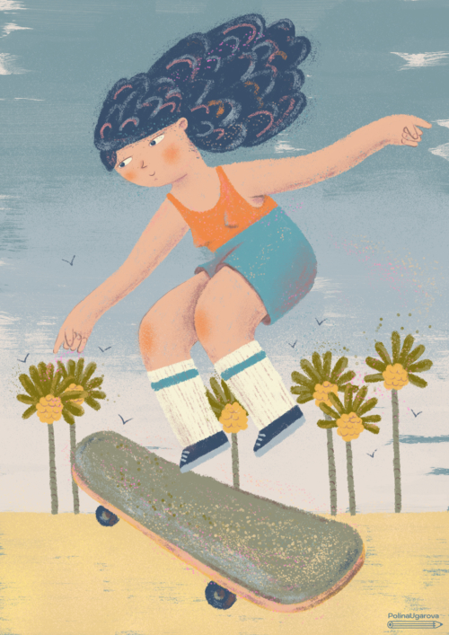 Skateboarding, Series of illustrations
